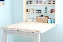 Tables bureau étagère murale