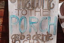 wooden signs / by Becky Norney