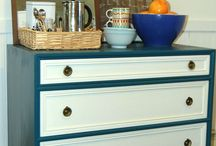 Upcycled drawers - boys room