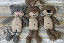 Knitted Baby teddys