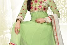 EID Anarkali Dresses / This EID, look stylish & graceful with our brand new range of anarkali dresses with embroidery work. Get your favorite one now from http://www.mishreesaree.com/Online/New-Arrivals/Latest-Salwar-Kameez