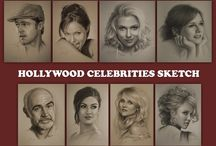 Amazing Hollywood Celebrities Sketch / Visit our huge gallery of celebrities sketch ! Find out a wide variety of sketches of different Hollywood Celebrities, and find your favorite celebrity sketch.