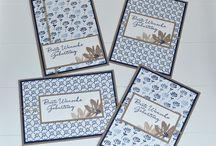 Karten in blau weiß