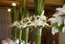 украшение зала -цветами
