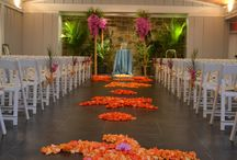 Chesapeake Bay Beach Club- Island Wedding / We do many weddings at the Chesapeake Bay Beach Club and this is one of our favorites.  The bright and fun colors as well as the tropical island style make it a fabulous party.  (Photo Credit: Tara)