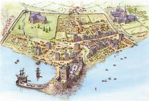Cities etc. / Isometric city maps and details of architecture. 7th Sea and Fantasy genre