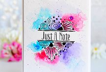 Watercoloring Ideas / I love watercoloring and there are so many amazingly talented crafters out there ... and I want to be inspired :)