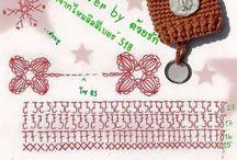Crochet keychains / llaveros crochet