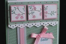Easter Cards / Hand crafted Easter cards!