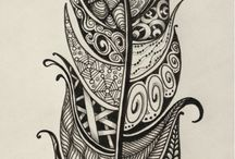 Zentangle Feathers / A collection of Zentangle patterned feathers