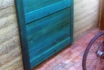 Reclaimed and Colored wood projects