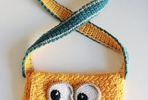 borse crochet di cartoni