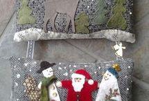 patchwork vánoční
