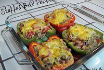 bakt grønnsaker med fyll