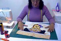 vídeos de trabalhos com tecidos