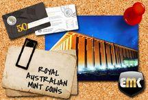 Royal Australian Mint / Royal Australian Mint coins distributed by EMK / Münzen der Royal Australian Mint im Angebot bei EMK.