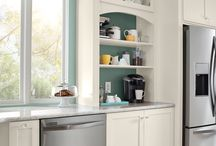The Command Center Kitchen / A kitchen can be designed to function as the single location from which heavily scheduled lives are managed alongside everything that goes into a meal—bringing order to the potential chaos. Here are a few ideas that make life a little easier in The Command Center Kitchen. / by KraftMaid Cabinetry