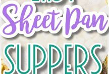 Sheet Pan Suppers Recipes / Yummy, easy, family friendly sheet pan entree and side dish recipes to try.  Perfect dishes for family dinners, birthday parties, holiday celebrations or any day of the week!  Homemade is always more delicious and a great way to pass on the cooking bug while bonding with your kids over scrumptious food!