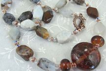 Artisan Necklaces / Handcrafted necklaces, made with my lampwork beads and/or gemstones.