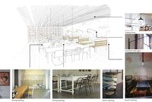 Architectural drawing / Plan elevation section Axon site analysis