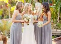 Wedding Ideas: Bridesmaid Dresses / Whomever you choose the be along side you as you take your steps to your future husband or wife, their dresses are equally as important as yours. Whether you choose to match or dare to be different, we've picked some lovely examples here and also some ideas for photos with your bridesmaids that you'll just have to take!