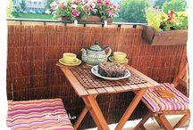 Balkon / Zagospodarowanie 5 m2 przestrzeni w miejsce odpoczynku i relaksu.