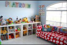 The boys playroom