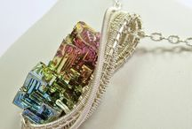 Bismuth necklaces