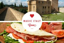 Magic Italy / Magic place to discover with their tipical food