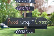signage at weddings