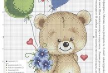 zwierzątka dziecięce - cross stitch Children animals / zwierzątka z bajek