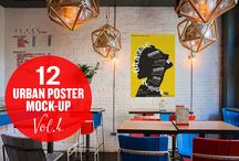 """Urban Poster Mock-up VOL.4 / EACH SMART OBJECT IS EDITABLE WITH ISO """"A"""" PAPER SIZES"""