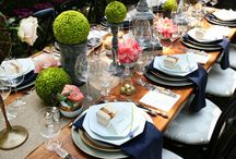 Entertaining/ Extreme Dinner Partying / It is all about a fabulous dinner party! Table settings, center pieces and candles! All with delicious food and cheeky drinks... what's not to love?