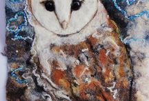 Felted paintings