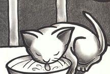 Kitten Art Study