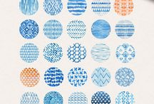 Cool watercolor patterns