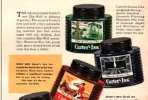 Vintage  Ink & Pens advertising