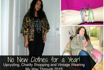Sustainable Fashion Challenges / Blogs and people challenging themselves to be more sustainable with their style