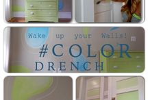 Color Drench / Wake up your walls with these happy & easy DIY paint ideas