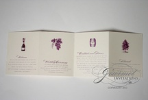 Wine Theme Wedding Paper / Wine themed wedding invitations and paper designs / by Gourmet Invitations