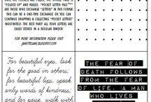 @@ Pocket Letter tutes & inspiration