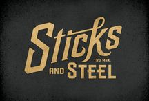 Rockin' Retro  / Sweet examples of retro inspired, type-based graphics.