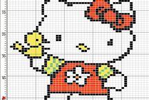 Keresztszemes minták (Hello Kitty)