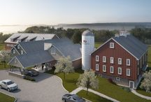 The Concept: / An artist's rendition and his construction of the Wyndridge Farm concept.
