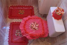 Banheiro e Lavabo / Peças artesanais feito a mão com a técnica de crochê  para decoração de banheiro e lavabo.
