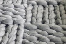 Handmade Blanket / merino wool, arm knitting, bulky, chunky, soft, warm, handmade, blankets