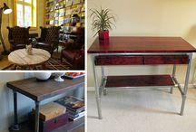 Einrichtung des Wohnzimmers / Möbel, Accessoirs und Design- und Einrichtungsideen rund ums Wohnzimmer - Alle vorgestellten Projekte kannst du mit individuellen Maßen nachbauen