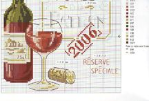 Cross stitch - wine