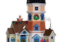 como pintar villas navideñas