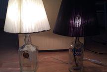 alcohol bottle lampshade / alcohol bottle lampshade